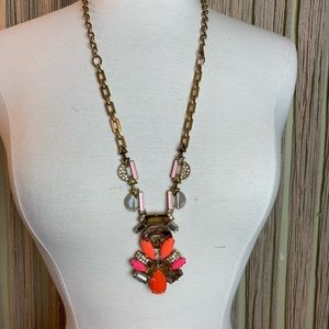 Stella & Dot Long Necklace with Faux Coral